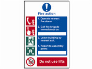 Scan SCA0175 - Fire Action Procedure - PVC 200 x 300mm