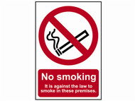 Scan SCA0567 - No Smoking It Is Against The Law To Smoke In These Premises - PVC 200 x 300mm