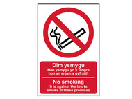 Scan SCA0578 - No Smoking English / Welsh PVC 200 x 300mm
