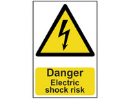 Scan SCA0750 - Danger Electric Shock Risk - PVC 200 x 300mm