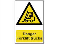 Scan SCA0954 - Danger Forklift Trucks - PVC 200 x 300mm