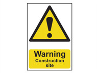 Scan SCA0958 - Warning Construction Site - PVC 200 x 300mm