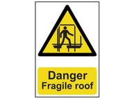 Scan SCA1104 - Danger Fragile Roof - PVC 200 x 300mm