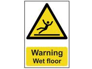 Scan SCA1107 - Warning Wet Floor - PVC 200 x 300mm