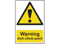 Scan SCA1113 - Warning Anti Climb Paint - PVC 200 x 300mm