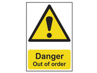Scan SCA1302 - Danger Out Of Order - PVC 200 x 300mm