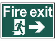 Scan SCA1504 - Fire Exit Running Man Arrow Right - PVC 300 x 200mm