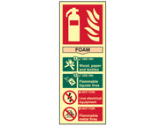 Scan SCA1591 - Fire Extinguisher Composite Foam - Photoluminescent 75 x 200mm