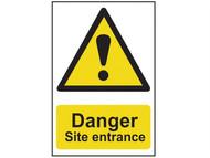 Scan SCA4102 - Danger Site Entrance - PVC 400 x 600mm