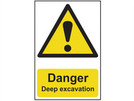 Scan SCA4103 - Danger Deep Excavation - PVC 400 x 600mm