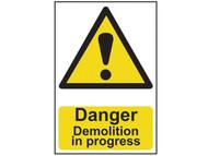 Scan SCA4106 - Danger Demolition In Progress - PVC 400 x 600mm