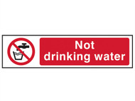 Scan SCA5051 - Not Drinking Water - PVC 200 x 50mm