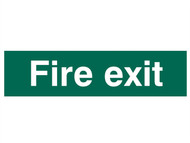 Scan SCA5204 - Fire Exit Text Only - PVC 200 x 50mm