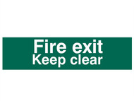 Scan SCA5206 - Fire Exit Keep Clear text Only - PVC 200 x 50mm