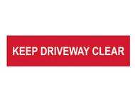 Scan SCA5252 - Keep Driveway Clear - PVC 200 x 50mm