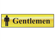 Scan SCA6003 - Gentlemen - Polished Brass Effect 200 x 50mm