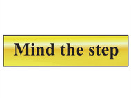 Scan SCA6029 - Mind The Step - Polished Brass Effect 200 x 50mm