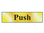 Scan SCA6031 - Push - Polished Brass Effect 200 x 50mm