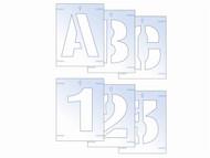 Scan SCA9406 - Letter & Number Stencil Kit 100mm