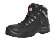 Scan SCAFWSERV10 - Serval Leather Ankle Boot Black UK 10 Euro 44