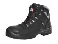 Scan SCAFWSERV8 - Serval Leather Ankle Boot Black UK 8 Euro 42