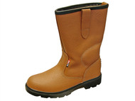 Scan SCAFWTEXAS9 - Texas Dual Density Lined Rigger Boots Tan UK 9 Euro 43