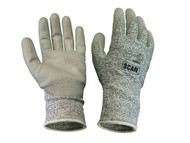 Scan SCAGLOCUT5XL - Grey PU Coated Cut 5 Liner Gloves - XL