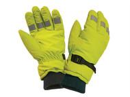 Scan SCAGLOHVISL - Hi-Visibility Gloves, Yellow Large