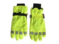 Scan SCAGLOHVISXL - Hi-Visibility Gloves, Yellow Extra Large