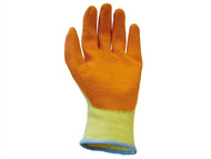 Scan SCAGLOKSPK12 - Knit Shell Latex Palm Gloves Orange Pack of 12