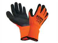 Scan SCAGLOKSTHER - Knitshell Thermal Gloves Orange/Black