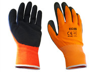 Scan SCAGLOLATOXL - Orange Foam Latex Coated Glove 13g XL