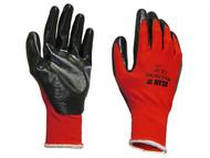 Scan SCAGLONITBL - Palm Dipped Black Nitrile Glove Large
