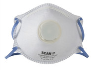 Scan SCAPPEP2MVB - Moulded Disposable Mask Valved FFP2 Protection (Box 10)