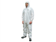 Scan SCAWWDOM56 - Chemical Splash Resistant Disposable Coverall White Type 5/6 - M