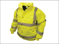 Scan SCAWWHVBJXXL - Hi-Vis Bomber Jacket Yellow - XXL (50-52in)