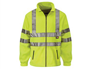Scan SCAWWHVFL - Hi-Vis Yellow Full Zip Fleece - L