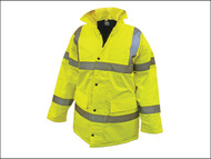 Scan SCAWWHVMJL - Hi-Vis Motorway Jacket Yellow - L (42-44in)