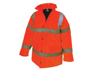 Scan SCAWWHVMJMO - Hi-Vis Motorway Jacket Orange - M (39-41in)
