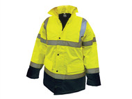 Scan SCAWWHVMJMYB - Hi-Vis Motorway Jacket Yellow Black - M (39-41in)