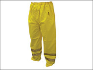 Scan SCAWWHVMTL - Hi-Vis Motorway Trouser Yellow - L (38-40in)