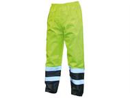 Scan SCAWWHVMTLYB - Hi-Vis Motorway Trouser Yellow Black - L (38-40in)