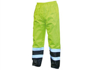 Scan SCAWWHVMTMYB - Hi-Vis Motorway Trouser Yellow Black - M (34-36in)