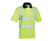 Scan SCAWWHVPSL - Hi-Vis Yellow Polo Shirt - L