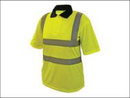Scan SCAWWHVPSM - Hi-Vis Yellow Polo Shirt - Medium