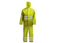 Scan SCAWWHVRSYL - Hi-Visibility Rain Suit Yellow - L