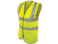 Scan SCAWWHVWC13 - Hi-Vis Waistcoat Yellow- Child 10-13 (35in)