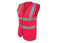 Scan SCAWWHVWLP - Hi-Vis Waistcoat Pink - L (42-44in)