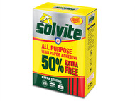 Solvite SLVDECBOX - All Purpose Wallpaper Paste Sachet 20 Roll + 50% Free