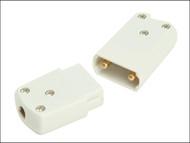 SMJ SMJCP102C - White 10A 2 Pin Plug & Socket